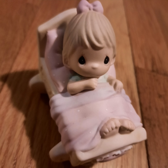 Precious moments its a girl porcelain ornament